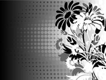 Flower silhouette abstract background Stock Photos
