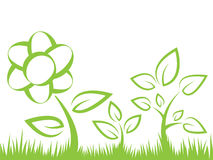 Flower silhouette illustration Royalty Free Stock Photography