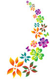 Flower silhouette. Illustration drawing of colorful flower pattern Royalty Free Stock Image