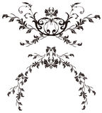 Flower silhouette pattern Royalty Free Stock Images
