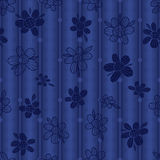 Flower silhoutte fabric style seamless pattern Royalty Free Stock Photo