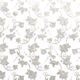 Flower silver foil design Royalty Free Stock Images