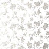 Flower silver foil design Stock Photos