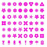 Flower 56 Simple Icon Set. 56 Simple Icon Set of Flower White Background Vector Illustration stock illustration