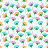Flower simple seamless pattern Royalty Free Stock Photography
