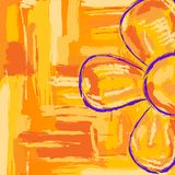 Flower, simple sketch Stock Photography