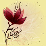 Flower sketch Royalty Free Stock Photography