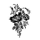 Flower sketch. Flower motif design sketch on whitebackground Royalty Free Stock Photography