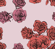 Flower sketch bouquet seamless pattern Royalty Free Stock Photo