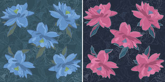 Flower sketch bouquet seamless pattern Stock Photo