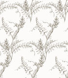 Flower sketch pattern Stock Photos