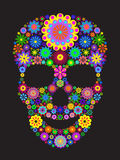 Flower skull royalty free illustration