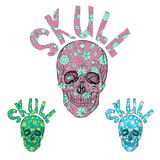 Flower Skulls. Royalty Free Stock Photos