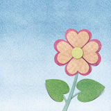 Flower and sky  recycled  papercraft Royalty Free Stock Images