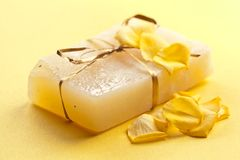 Flower soap Stock Photos