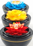 Flower soap carving on white Royalty Free Stock Image