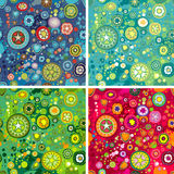Flower Space Background. Variations Of Colorful Flower Space Backgrounds, editable vector illustration Royalty Free Stock Images