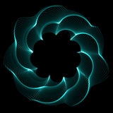 Flower spirograph pendulum photo. Graphy is on black background stock illustration