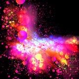Flower splatter background Stock Photos