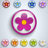 Flower Spring Button Sticker Icon Royalty Free Stock Photos