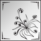 Flower in square frame Royalty Free Stock Photo