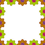Flower square made from clay Stock Photos