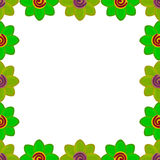 Flower square made from clay green Stock Images
