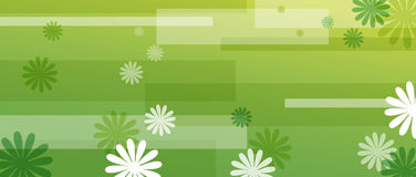 Flower and square pattern Royalty Free Stock Image