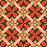 Flower Square Pattern Seamless Background Stock Images