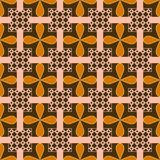 Flower Square Pattern Seamless Background Royalty Free Stock Images