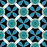 Flower Square Pattern Seamless Background Royalty Free Stock Photography