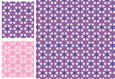 Flower 6 square purple pink seamless pattern Stock Photography