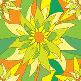 Flower Square Seamless Pattern_eps. Illustration of flowers square style with sunny colors background pattern Stock Images