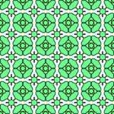 Flower squares geometric seamless tile Stock Images