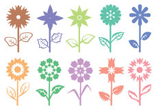 Flower Stalk Silhouette Decorative Pattern Vector Illustration Royalty Free Stock Photo