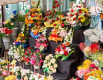 Flower stall Stock Photo