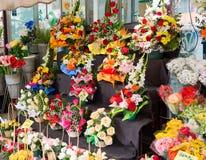 Flower stall. On Barcelona street Stock Photo