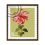 Flower stamp Stock Photo