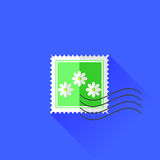 Flower Stamp Icon Royalty Free Stock Photography