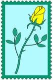 Flower on stamp Stock Photos