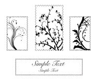 Flower stamps Stock Photos