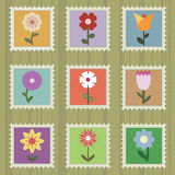 Flower stamps Royalty Free Stock Image