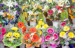 Flower stand Royalty Free Stock Images