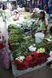 flower stand at the market Stock Images