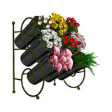 Flower Stand on White Royalty Free Stock Images