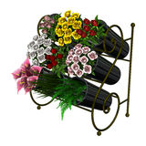 Flower Stand on White Stock Image