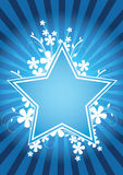 Flower star design. Floral vector illustration Stock Photo