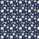 Flower and Star. vector pattern stock image