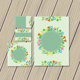 Flower stationery Royalty Free Stock Photos