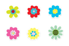 Flower Stickers Royalty Free Stock Photography